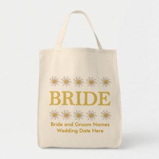 La bolsa de asas personalizada de la novia de la m