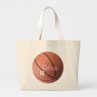 La bolsa de asas personalizada del baloncesto