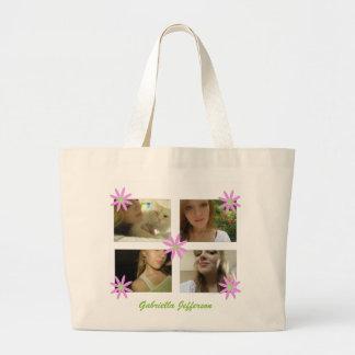 La bolsa de asas personalizada del collage de la i