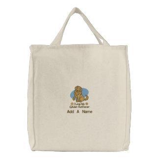 La bolsa de asas personalizada del golden retrieve