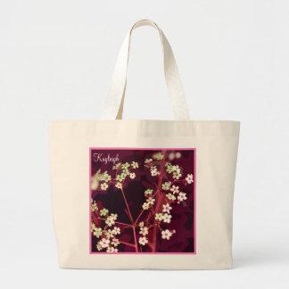 La bolsa de asas personalizada floral del colorete