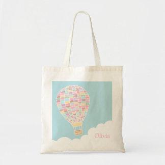 La bolsa de asas personalizada globo de moda del