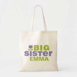 La bolsa de asas personalizada linda de la hermana