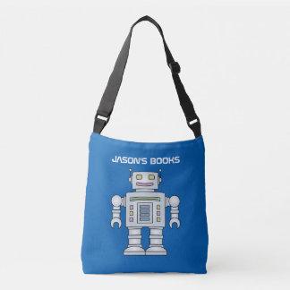 La bolsa de asas personalizada robot del libro de