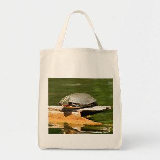 La bolsa de asas pintada de la tortuga