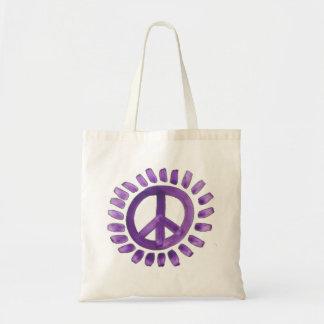 la bolsa de asas pintada púrpura del signo de la p