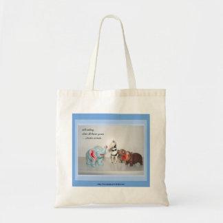 La bolsa de asas plástica de los animales