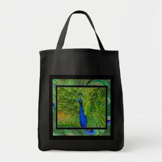 La bolsa de asas Preening del pavo real