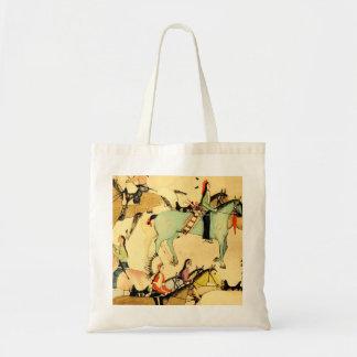 La bolsa de asas primitiva del dibujo del arte pop