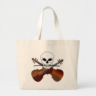 La bolsa de asas principal de la música del violín