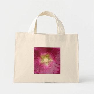 La bolsa de asas púrpura de la flor del Hollyhock