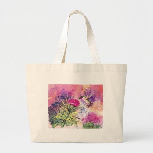 La bolsa de asas púrpura de la impresión del arte
