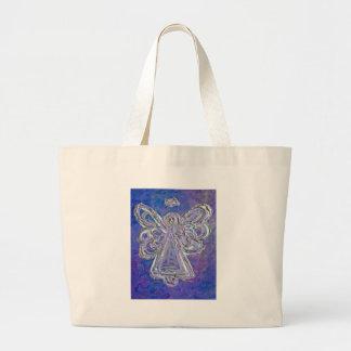La bolsa de asas púrpura del ángel