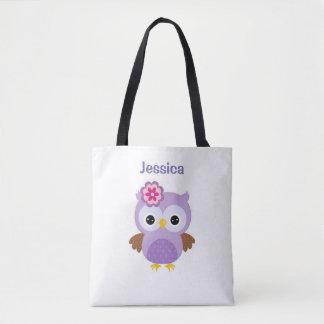 La bolsa de asas púrpura del búho