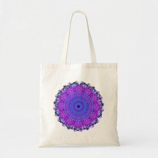 La bolsa de asas púrpura del caleidoscopio de la m