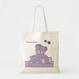 La bolsa de asas púrpura del presupuesto de