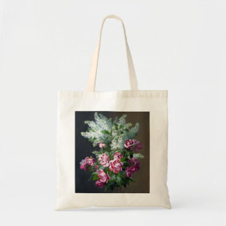 La bolsa de asas púrpura del rosa del vintage y bl