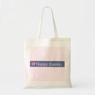 La bolsa de asas púrpura feliz del presupuesto de