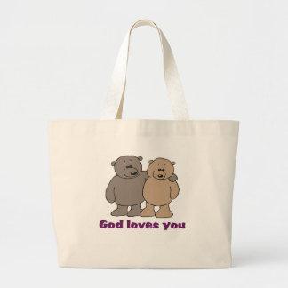 La bolsa de asas que dice cristiana
