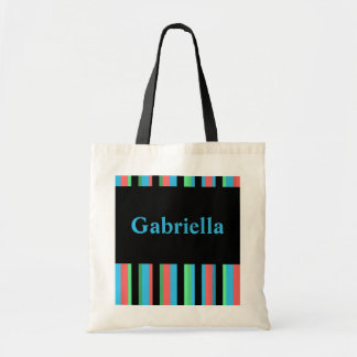 La bolsa de asas rayada bonita de Gabriela