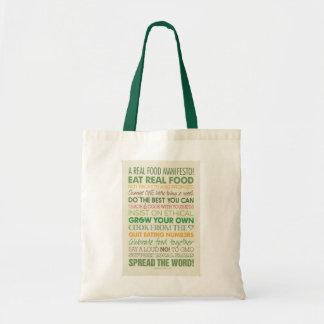 La bolsa de asas real de la comida