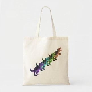La bolsa de asas retra del arte pop de los dinosau