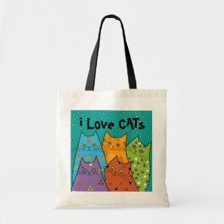 La bolsa de asas retra del presupuesto de los gato