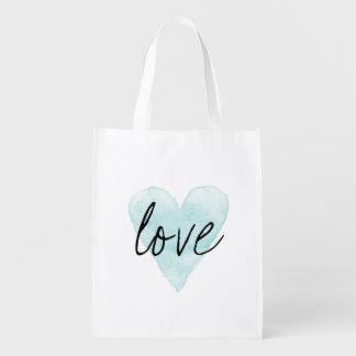 La bolsa de asas reutilizable de las compras del bolsas para la compra