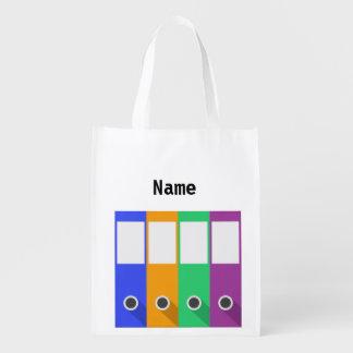 La bolsa de asas reutilizable del estante de libre bolsas reutilizables
