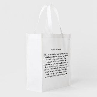 La bolsa de asas reutilizable del logotipo de NRCC Bolsas Reutilizables