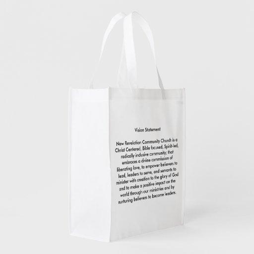 La bolsa de asas reutilizable del logotipo de NRCC Bolsa Para La Compra