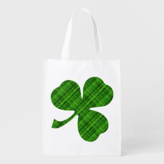 La bolsa de asas reutilizable del trébol bolsa reutilizable