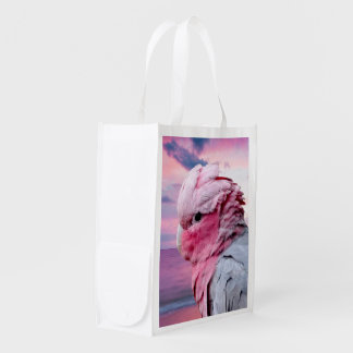 La bolsa de asas reutilizable del ultramarinos de bolsas para la compra