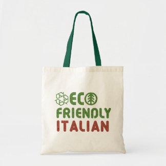 La bolsa de asas reutilizable italiana amistosa de