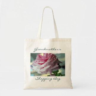 La bolsa de asas reutilizable personalizada rosa