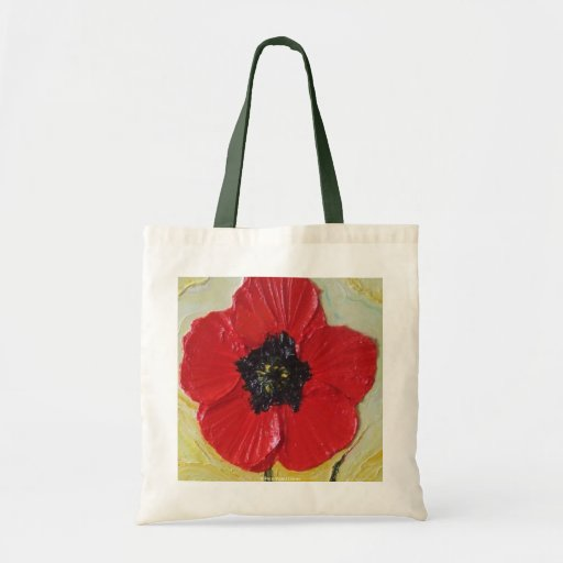 La bolsa de asas roja de la amapola