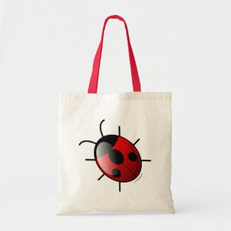 La bolsa de asas roja de la mariquita