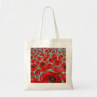 La bolsa de asas roja de las amapolas