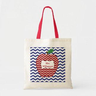 La bolsa de asas roja de moda del profesor de