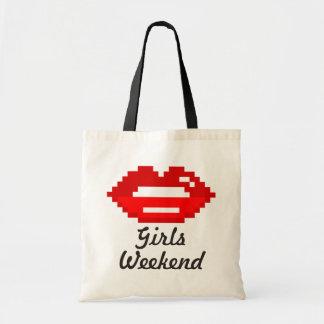 La bolsa de asas roja del fin de semana de los