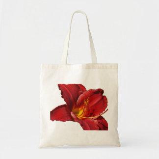 La bolsa de asas roja del lirio