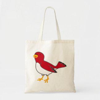 La bolsa de asas roja del pájaro