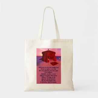 La bolsa de asas roja del presupuesto de la poesía