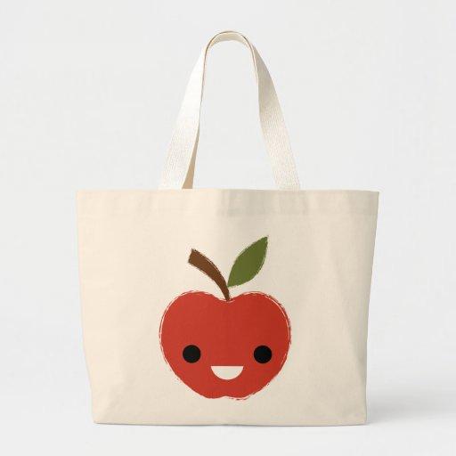 La bolsa de asas roja feliz de Apple
