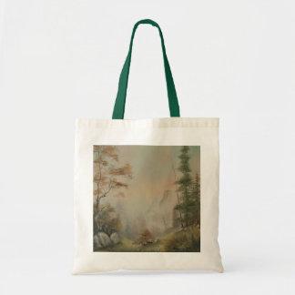 La bolsa de asas romántica de la lona del paisaje