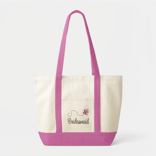 La bolsa de asas rosada de la dama de honor del ba