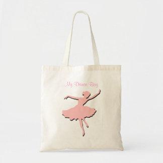 La bolsa de asas rosada de los bailarines