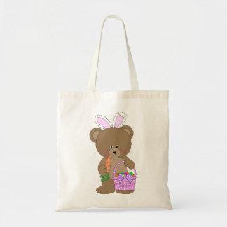 La bolsa de asas rosada del oso de los oídos del