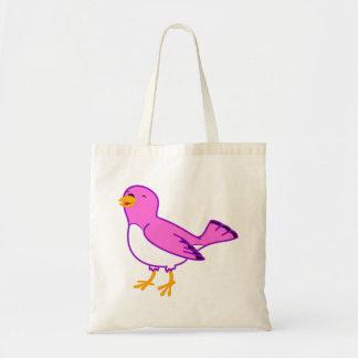 La bolsa de asas rosada del pájaro