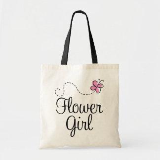 La bolsa de asas rosada del regalo del florista de